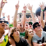 Parkway Drive crowd @ Big Day Out 2012, Gold Coast Parklands, 22.01.2012